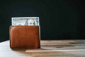 wallet full of cash